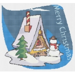 Free Bird House Christmas Cross Stitch Pattern