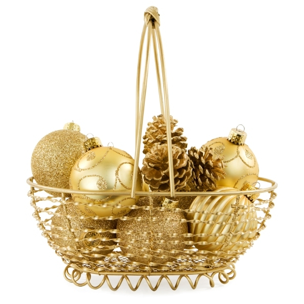 christmas dining room decorations decorative basket of ornaments