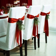 Christmas Decorating Ideas for dining rooms and table tops.