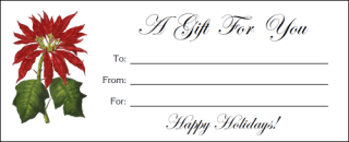 Free Printable Poinsettia Gift Certificates