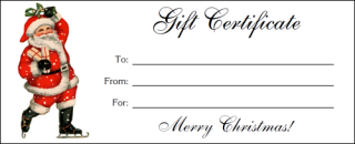 Free Printable Santa Gift Certificates  Christmas Gift Card Template