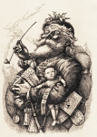 Thomas Nast drawing of Santa Claus